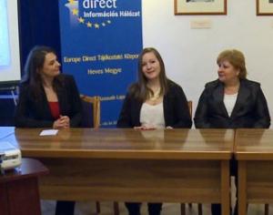 Rapcsák Dalma (középen (forrás: TVEger)
